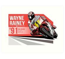 Wayne Rainey - 1991 Paul Ricard Art Print