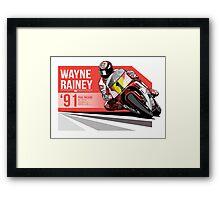 Wayne Rainey - 1991 Paul Ricard Framed Print