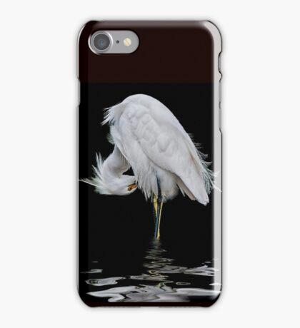 Snowy Egret Preening iPhone Case/Skin