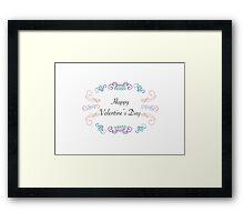 Valentines Cards: Scrolls Happy Valentine' Day Framed Print