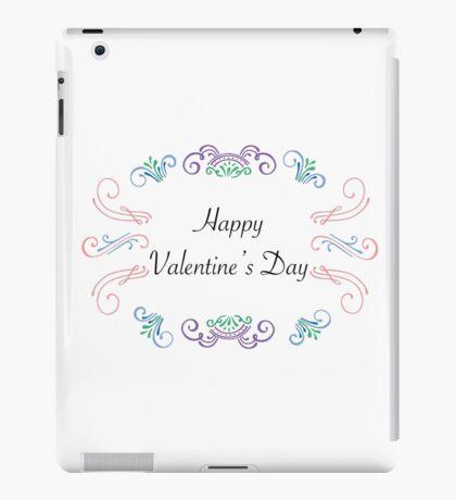 Valentines Cards: Scrolls Happy Valentine' Day iPad Case/Skin