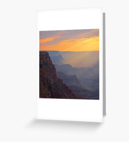 Beautiful Grand Canyon Sunset Greeting Card