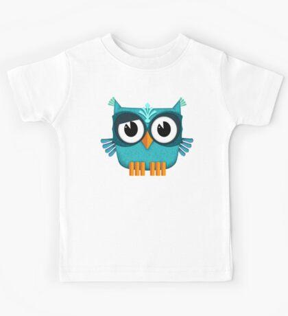 Cute Emerald Owl  Kids Tee