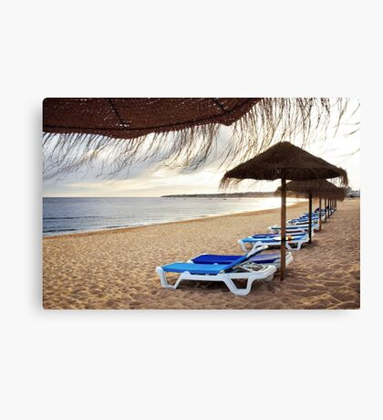 Relax in the beach Canvas Print