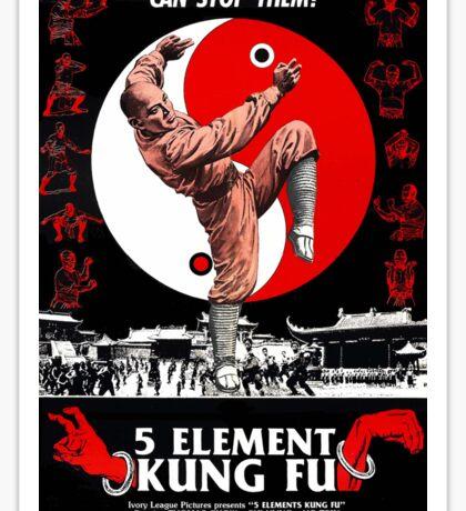 KUNG FU, FILM, POSTER, 5 Element,  Sticker