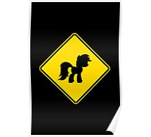 Pony Traffic Sign - Diamond Poster