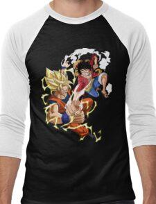goku vs luffy Men's Baseball ¾ T-Shirt