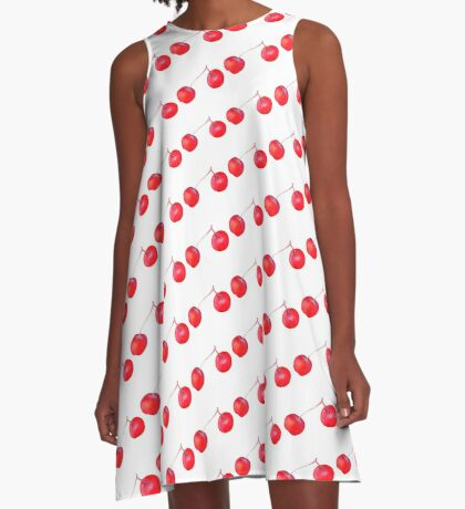 Chinese cherry apple A-Line Dress