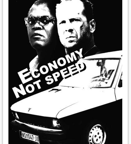 Economy not speed Sticker