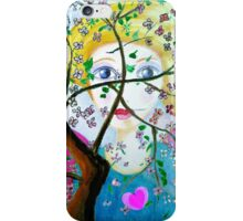There's an angel behind the blooming tree iPhone Case/Skin