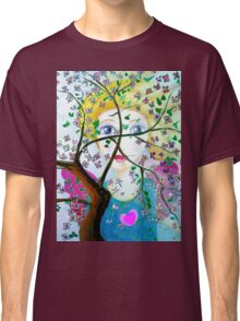 There's an angel behind the blooming tree Classic T-Shirt