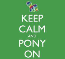 Keep Calm and Pony On - Black One Piece - Short Sleeve