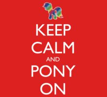 Keep Calm and Pony On - Black Baby Tee