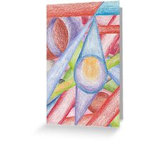 Hand Coloured number 1 Greeting Card