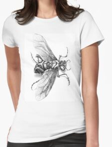 Flying Insect Womens Fitted T-Shirt