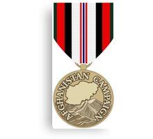 Afghanistan Campain Medal Canvas Print