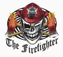 Firefighter Skull 6.4 Kids Tee