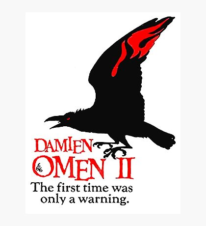 OMEN, Crow, Warning, Movie Poster Photographic Print