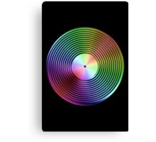 Vinyl LP Record - Metallic - Rainbow Canvas Print