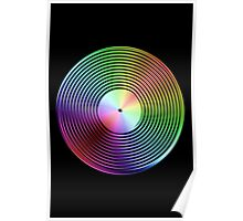 Vinyl LP Record - Metallic - Rainbow Poster