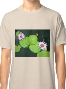 Lily Pads & Flowers - original nature photography  Classic T-Shirt