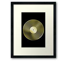 Vinyl LP Record - Metallic - Gold Framed Print