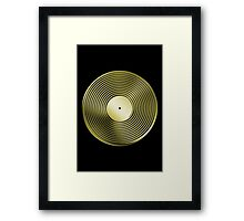 Vinyl LP Record - Metallic - Gold Framed Print