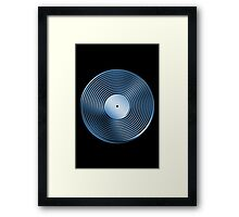 Vinyl LP Record - Metallic - Blue Framed Print