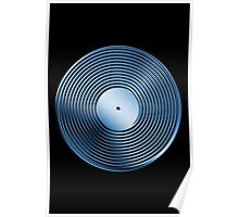 Vinyl LP Record - Metallic - Blue Poster