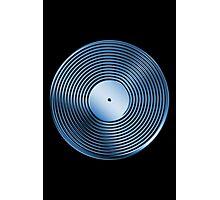 Vinyl LP Record - Metallic - Blue Photographic Print