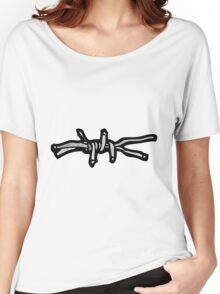 barbed wire symbol Women's Relaxed Fit T-Shirt