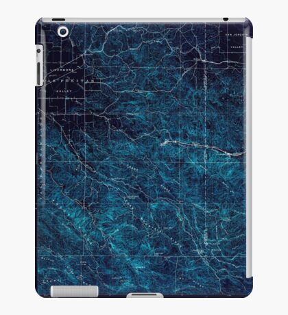 USGS TOPO Map California CA Tesla 298993 1907 62500 geo Inverted iPad Case/Skin