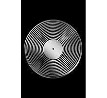 Vinyl LP Record - Metallic - Steel Photographic Print