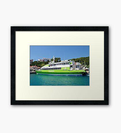 Flying Cat catamaran, Alonissos Framed Print
