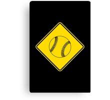 Baseball or Softball - Traffic Sign - Diamond Canvas Print