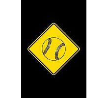 Baseball or Softball - Traffic Sign - Diamond Photographic Print