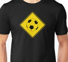Soccer - Football - Footy - Traffic Sign - Diamond Unisex T-Shirt