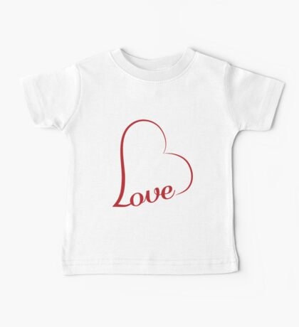 Love calligraphy heart Baby Tee