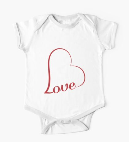 Love calligraphy heart One Piece - Short Sleeve