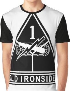 1st Armored stencil Graphic T-Shirt