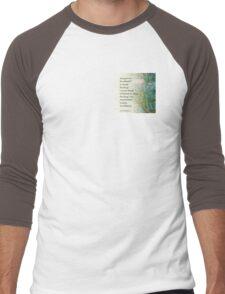 Serenity Prayer Pine Branches Men's Baseball ¾ T-Shirt