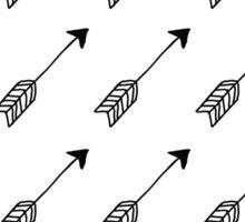 arrows doodle pattern Sticker