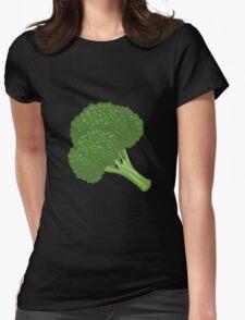 Glitch Food broccoli Womens Fitted T-Shirt