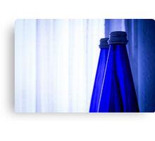 Blue water bottle Canvas Print