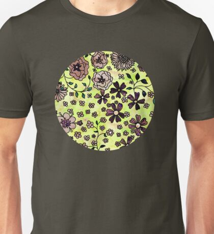 Brown Small Flowers Unisex T-Shirt