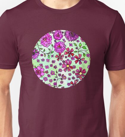 Pink Small Flowers Unisex T-Shirt