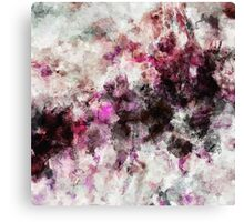 Purple and Pink Abstract Painting Canvas Print