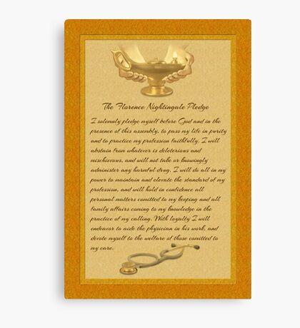 The Florence Nightingale Pledge Canvas Print