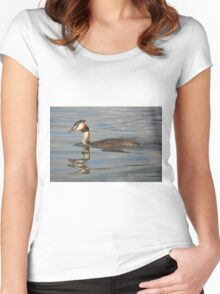 Great Crested Grebe Women's Fitted Scoop T-Shirt