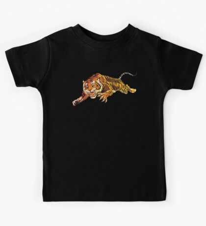 TIGER, ATTACK, Pounce, from Circus Poster Kids Tee